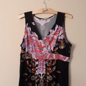 NY Collection Dresses - NY Collection Like New Scroll Maxi Dress XL